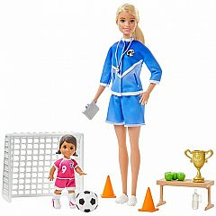 Barbie Soccer Coach Playset